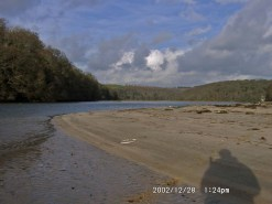 a view up the estuary of the river Erme